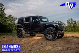 jeep wheels black jeep dreamworks motorsports