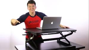 sit stand computer desk flexispot sit stand desk riser unboxing and review youtube