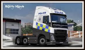 truck volvo 2013 police skin for volvo fh 2013 euro truck simulator 2 pinterest