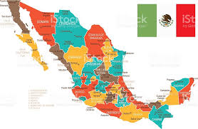 map of the mexico colored mexico map stock vector 590601686 istock