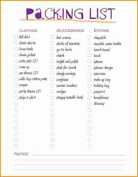 3 travel packing list template authorization letter