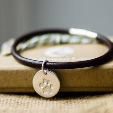 leather bracelet with silver charm images For pet lovers archives two green lane jpg