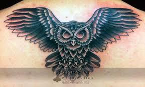 joshstono owl bird black and grey