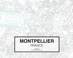Montpellier France Map by Download Montpellier Dwg Mapacad
