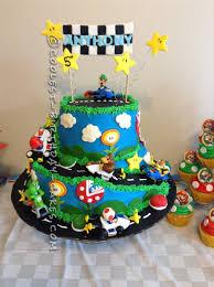 mario birthday cake coolest mario kart wii birthday cake