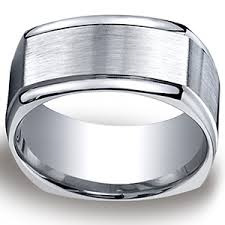 silver mens wedding bands 10mm four sided comfort fit argentium silver men s wedding band