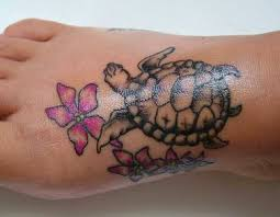 colored butterflies and turtle on right