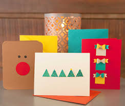 modern take on traditional holiday cards with fiskars