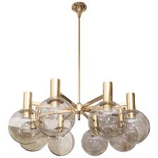 Antique Chandelier Globes 1970s Hans Agne Jakobsson Smoked Globes And Brass Light Fixture