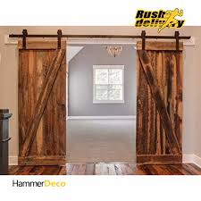 Home Decor Barn Hardware Sliding Barn Door Hardware 10 by 10 16 Ft Black Steel Sliding Doors Sliding Door Hardware American