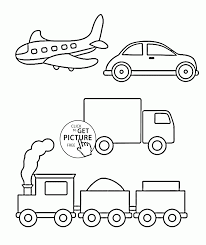 simple coloring pages of transportation for toddlers coloring