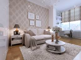 guest room with a beautiful and comfortable sofas in the art