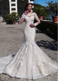 wedding dresses mermaid buy discount gorgeous tulle lace bateau neckline mermaid wedding