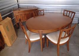 mid century modern dining set drexel triune oval table server 4