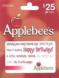 applebee gift card applebee s happy birthday 25 gift card gift cards