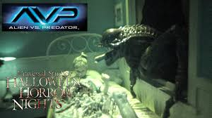 halloween horror nights 2012 event map alien vs predator haunted house maze walk through halloween