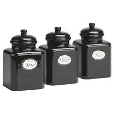 black kitchen canisters sets 28 kitchen canister sets black gbs3013 deco 4 black