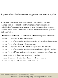 Software Developer Resume Example Top8embeddedsoftwareengineerresumesamples 150514014121 Lva1 App6891 Thumbnail 4 Jpg Cb U003d1431567724