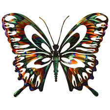 3d butterfly metal outdoor wall hayneedle