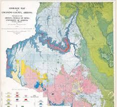 Northern Arizona Map by Arizona Geology Wryheat