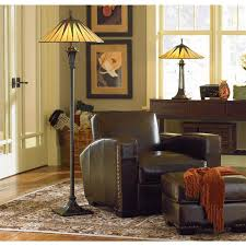 Tall Floor Lamps For Living Room Quoizel Tf9397vb Floor Lamp Tif Vint Brnz