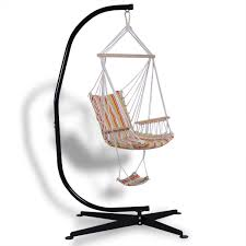 Hammock Chair C Stand Solid Steel C Hammock Frame Stand Hammocks Outdoor Living