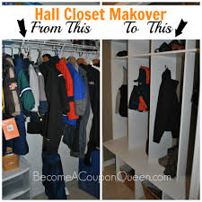 hall closet makeover from closet to lockers