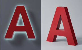 large aluminum channel sign letters backlit with led for a halo effect