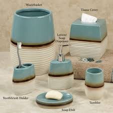 kazoo teal stoneware bath accessories