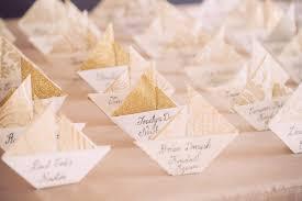 origami escort cards unique wedding escort card place card ideas