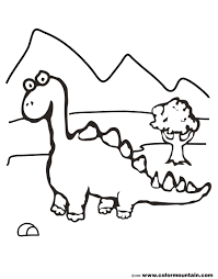 cartoon dinosaur coloring sheet create a printout or activity