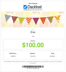 gift certificates checkfront support