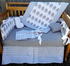 Grey And White Crib Bedding And Elephant Grey And White Crib Bedding Set W Grey Minky