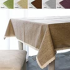 calitime high class linen blend tablecloth solid