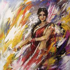 classical dance art 14 painting by maryam mughal