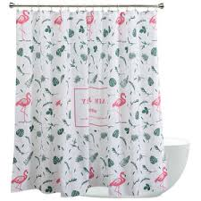 Flamingo Shower Curtains Cool U0026 Long Shower Curtains Bathroom Shower Curtains