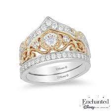 cinderella engagement ring enchanted disney cinderella 3 4 ct t w crown bridal set