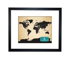 Personalized World Map by World Map Personalized Family Travels Map Anniversary Gift Idea