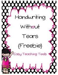 handwriting without tears letter formation chart hwt pinterest
