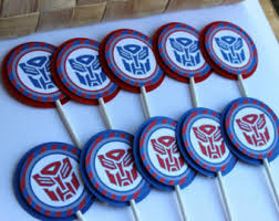 Transformers Autobots Cupcake Toppers Bumblebee by Laceylettering
