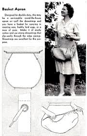 how to sew a basket apron vintage crafts and more sew sew no
