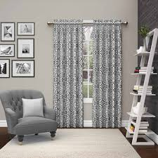 mainstays chevron polyester cotton curtain with bonus panel