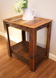 small wood end table wonderful pallet end tablenightstandaccent table wooden pallets