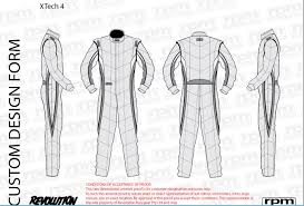 Racing Suit Template revolution racegear