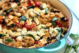 Easy Main Dish - roasted vegetable u0026 feta cheese quinoa bake