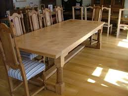 Refectory Dining Tables Sussex English Oak Framed Top Extending Refectory Dining Table