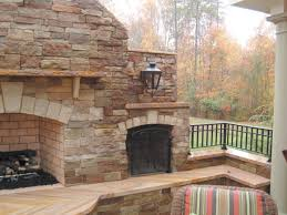 Stacked Stone Outdoor Fireplace - top natural stone outdoor fireplace good home design top on