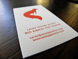 business red ribbon fox design