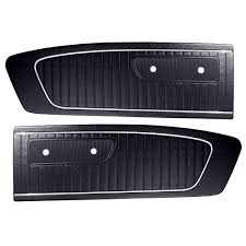 Black 1965 Mustang Mustang Door Panel Standard Black Pair 1965