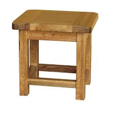 Oak Side Table Country Oak Small Side Table Realwoods
